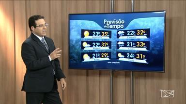 Confira a previsão do tempo para esta terça-feira (21) no MA - Imperatriz terá um dia sol e sem chuva com temperatura mínima de 23 graus e máxima de 35.