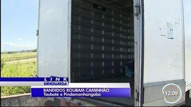 Dois são presos em Pinda por furtar caminhão em Taubaté - carga de aço foi recuperada.