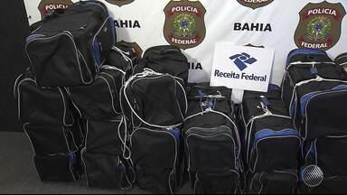 Mais de meia tonelada de cocaína é apreendida em navio atracado no porto de Salvador - Polícia Federal apreendeu a droga nesta terça (21).