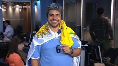 Editor uruguaio do Globo Esporte RS acredita na vitória contra a Seleção Brasileira - Assista ao vídeo.