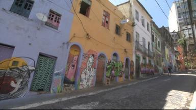 Festival de Grafite abre a programação especial em homenagem ao aniversário de Salvador - Bairro da Barroquinha foi embelezado com arte urbana, por grafiteiros de todo o Brasil.