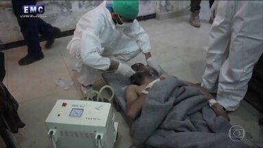 Governo sírio é suspeito de usar arma química contra o próprio povo - Ataque bárbaro matou pelo menos 58 pessoas no Noroeste da Síria.Conselho de segurança da ONU vai se reunir para discutir o caso.