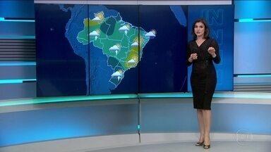 Quarta-feira (5) tem possibilidade de chuva em todo o país - Em São Paulo a mínima é de 19ºC e tem 80% de chance chuva. No Rio não chove