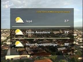 Meteorologia prevê chuva para o Oeste Paulista - Veja como ficam as temperaturas em algumas cidades.