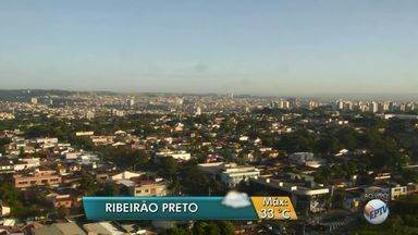 Veja a previsão do tempo para esta quarta-feira (5) em Ribeirão Preto, SP - Meteorologistas preveem temperatura máxima de 33ºC e pancadas de chuva no fim da tarde.