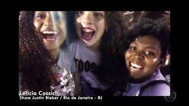 #AltasHoras recebe vídeos de lugares muito diferentes - Teve até vídeo direto do show do Justin Bieber