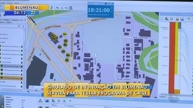 Defesa Civil realiza simulado de inundação para testar programa de crise em Blumenau - Defesa Civil realiza simulado de inundação para testar programa de crise em Blumenau