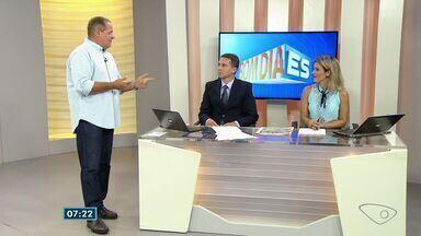 Comentarista do ES fala sobre os destaques do esporte nesta segunda-feira (10) - Esse fim de semana teve a ultima etapa do circuito brasileiro de vôlei de praia aqui em Vitória.