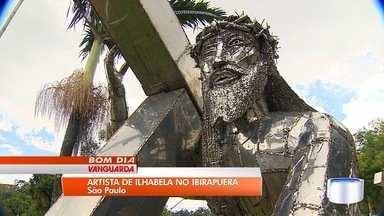 Artista plástico de Ilhabela expõe obras no Ibirapuera em São Paulo - Gilmar Pinna criou 46 esculturas que impressionam visitantes.