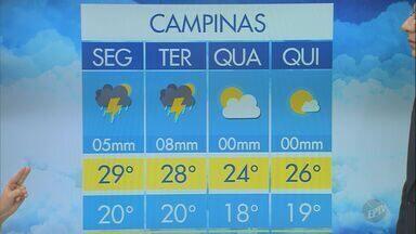 Semana começa com temperaturas altas e tempo seco em Campinas - Máxima para a cidade deve ser de 28ºC.