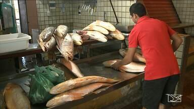 Oferta de peixes em feiras e mercados durante a Semana Santa cai em São Luís - Durante a Semana Santa quando tradicionalmente, o consumo do pescado é maior, a oferta de pescado reduziu.
