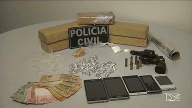 Polícias se unem em operação contra tráfico de drogas em Santa Inês - Operação reuniu policiais militares, civis e rodoviários que fazem parte do município.