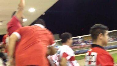 Torcida comemora segundo gol do CRB na partida - CRB e ASA se enfrentaram pela quarta rodada do hexagonal