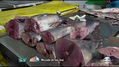 Começa correria para compra de peixes para a páscoa no Recife - Mercados públicos são destinos de quem quer comprar os alimentos, que fazem parte da tradição pascal