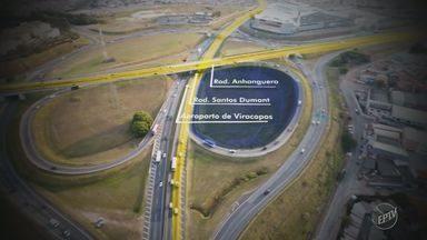 Obra na Avenida Prestes Maia promete desafogar trânsito de Campinas - A obra deve ser concluída em seis meses.