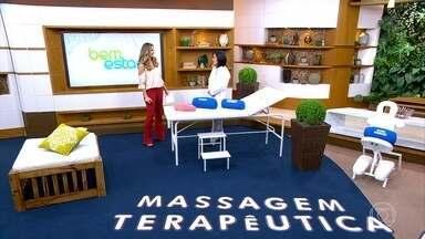 Saiba quando uma massagem é considerada terapêutica ou relaxante - A especialista em Medicina Integrativa Denise Tiemi explica que uma massagem é considerada terapêutica quando o paciente procura o procedimento por alguma indicação clínica.