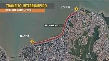 Projeto 'Via do Ciclista' vai alterar trânsito na Beira-Mar Norte nos domingos - Projeto 'Via do Ciclista' vai alterar trânsito na Beira-Mar Norte nos domingos
