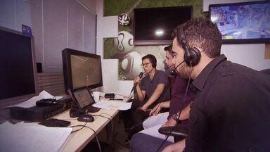 Confira bastidores da transmissão do GloboEsporte.com de jogo do Candangão - Partida transmitida online foi entre Brasiliense e Sobradinho.
