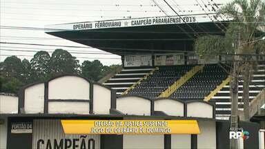 Justiça Desportiva suspende jogo do Operário marcado para domingo - Partida era a estreia na segunda fase contra a Portuguesa Londrinense, no Estádio Germano Krüger