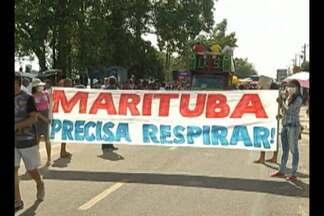Moradores de Marituba voltam a protestar contra aterro sanitário - Uma decisão da Justiça autorizou a intervenção do Governo do Estado na administração do aterro.