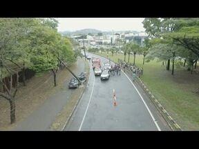 Morre investigador que conduzia viatura que bateu em poste em Ipatinga - Acidente foi registrado na manhã de domingo (24).
