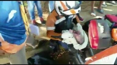 Recém-nascida encontrada dentro de uma mala tem alta em GO - O Conselho Tutelar foi ao Hospital Materno Infantil buscar a criança.