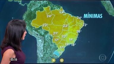 Confira a previsão do tempo para a quarta-feira (26) - Veja como fica o tempo em todo país.