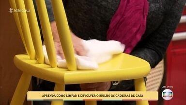 Aprenda como limpar e devolver o brilho às cadeiras de casa - Restauradora Vera Nascimento ensina como conservar as peças
