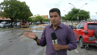 Trânsito passa a ser sentido único em trecho da Av. Tapajós por conta da enchente - A avenida Tapajós possui vários pontos de alagamentos por conta da subida dos rios.