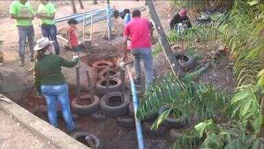 Estudantes recuperam áreas de erosão e córregos em Palmas - Estudantes recuperam áreas de erosão e córregos em Palmas