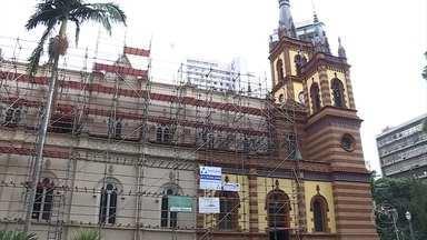 Obra de restauração da Igreja São José, em BH, está quase pronta - Desde que começou em 2010, trabalho vem revelando muitas surpresas.