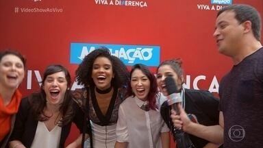 Rafael Cortez invade a coletiva de lançamento da nova temporada de 'Malhação' - Conheça as cinco protagonistas e toda a galera que vai divertir as tardes na telinha da Globo