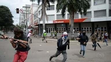 MP diz que vai discutir com a Secretaria de Segurança Pública a ação da PM em protestos - Medida ocorreu após agressão ao estudante Mateus Ferreira, em Goiânia.