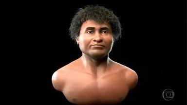 Fóssil descoberto na região de Lagoa Santa, na Grande BH, tem rosto reconstruído - Humanos que viveram na região são considerados primeiros habitantes da América.