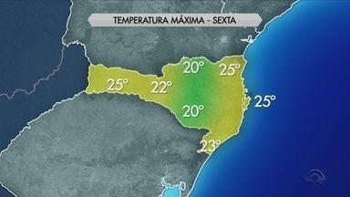 Veja a previsão do tempo para todas as regiões de SC nesta sexta-feira (5) - Veja a previsão do tempo para todas as regiões de SC nesta sexta-feira (5)