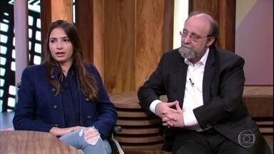 Laís souza conta que está estudando psicologia - Pedro Bial questiona a ex-ginasta sobre processo de recuperação após acidente