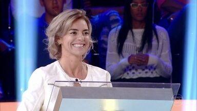 Juliana Torchetti é a primeira desafiante do 'Quem Quer Ser Um Milionário?' - Confira a estreia do 'Quem Quer Ser Um Milionário?' no 'Caldeirão'