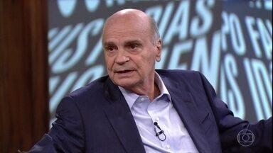 Drauzio Varella comenta depoimento de carcereiro de um presídio feminino - Pedro Bial mostra vídeo com Valdemar Gonçalves, que foi citado em livro do escritor