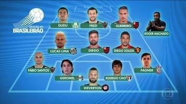 Jogadores escolhem os futuros destaques do Campeonato Brasileiro de 2017 - Seleção do campeonato foi escalada antes do início dos jogos pelos próprios jogadores.