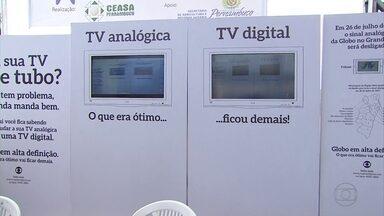 Mutirão de serviços no Ceasa orienta sobre mudanças para a TV digital - Evento segue até sexta-feira (19).