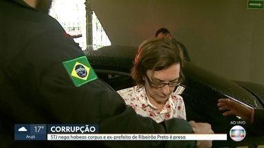 Ex-prefeita de Ribeirão Preto é presa pela segunda vez - Dárcy Vera é acusada de chefiar um esquema de corrupção que desviou R$ 45 milhões dos cofres públicos. Ela foi cassada em março e perdeu os direitos políticos.