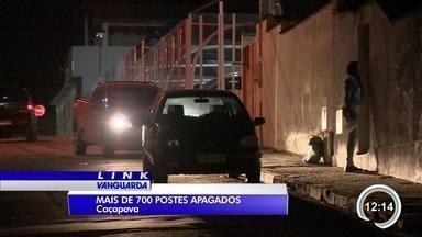 Mais de 700 postes de Caçapava estão sem iluminação - Moradores de vários bairros reclamam de falta de segurança.