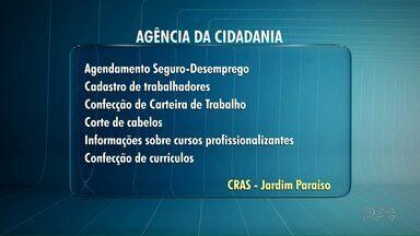 Projeto Agência da Cidadania leva serviços para o Jardim Paraíso - São várias atividades, como pedido de seguro desemprego, confecção de carteira de trabalho e informações sobre cursos profissionalizantes