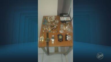 Polícia Militar de Mogi Guaçu prende suspeito de roubo - Ele estava com um tablet, que tinha ativado o sistema de localização.