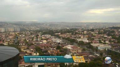 Segunda-feira (22) amanhece nublada e com previsão de chuva em Ribeirão Preto, SP - Meteorologistas preveem temperatura máxima de 27ºC.