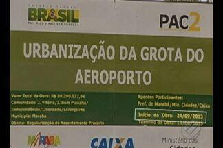 Projeto de urbanização da grota do aeroporto de Marabá se arrasta desde 2013 - Obra levaria saneamento básico para centenas de moradores.