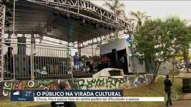 Virada Cultura registra queda de público e divide opiniões com nova estrutura - Foram 900 atrações espalhadas por cinco regiões de São Paulo.