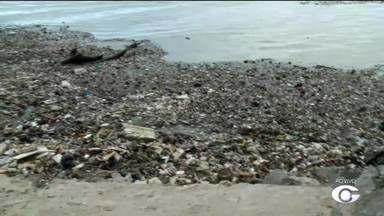 Reportagem registra grande quantidade de lixo na Praia da Avenida - Superintendente da Slum, David Maia, fala sobre a situação preocupante do local.
