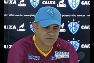 Chamusca fala sobre equipe do Papão para jogo contra o América-MG - Chamusca fala sobre equipe do Papão para jogo contra o América-MG