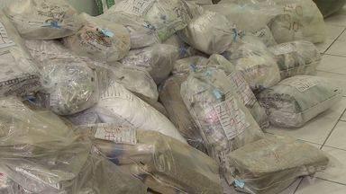 Quase 3 toneladas de drogas apreendidas pela polícia são incineradas - Drogas estavam apreendidas em Santos